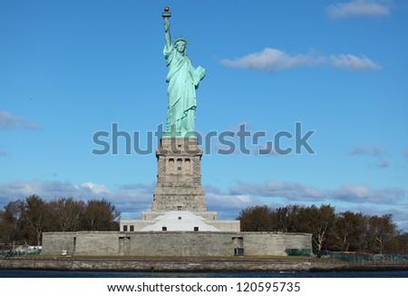 New York City - Statue of Liberty - stock photo
