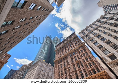 New York City. Tall skyscrapers are the symbol of the Big Apple. - stock photo