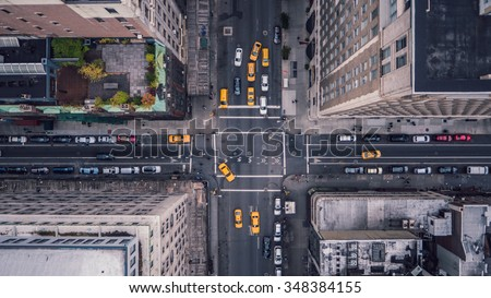 New York City 5th Ave Vertical - stock photo