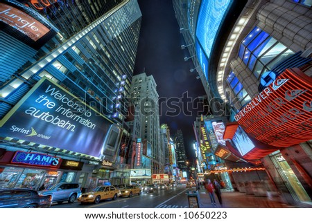 New York City, Times Square at night - stock photo