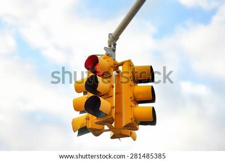 New York City Traffic Light - stock photo