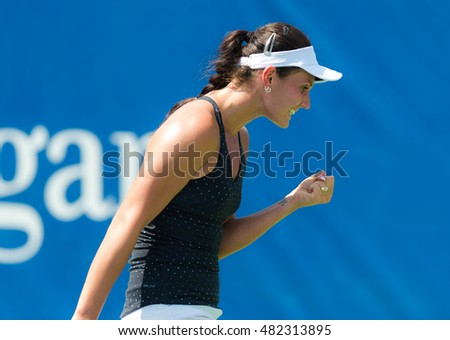 NEW YORK CITY, UNITED STATES - AUGUST 25 : Jovana Jaksic in action at the 2016 US Open Grand Slam tennis tournament