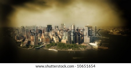 New York city - united states of America - sepia