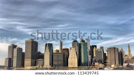 New York City (United States) - Skyline from Brooklyn - stock photo