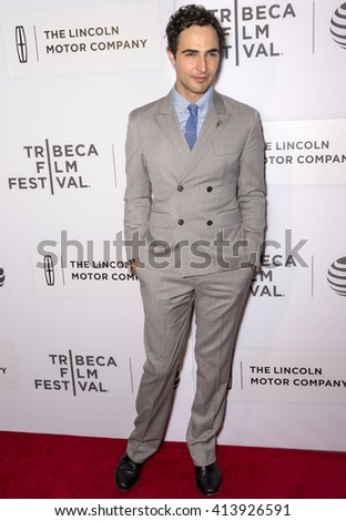 New York City, USA - April 15, 2016: Designer Zac Posen attends the premiere of - All We Had - at John Zuccotti Theater during the 2016 Tribeca Film Festival