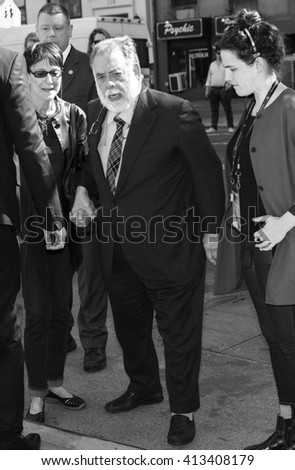 New York City, USA - April 20, 2016: Director Francis Ford Coppola arrives at the Tribeca Talks Storytellers - Francis Ford Coppola with Jay McInerney - during the 2016 Tribeca Film Festival