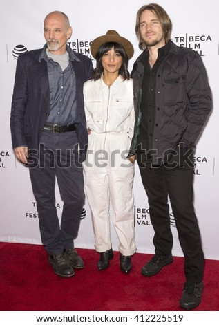 New York City, USA - April 24, 2016: Directors Eric Schlosser, Smriti Keshari and Kevin Ford attend Tribeca Talks - What We Talk About When We Talk About The Bomb during the 2016 Tribeca Film Festival