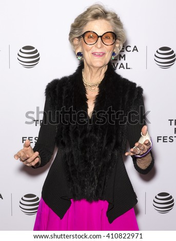 New York City, USA - April 24, 2016: Kelly Smith Tunney attends the Almost Paris premiere during the 2016 Tribeca Film Festival at Chelsea Bow Tie Cinemas - stock photo