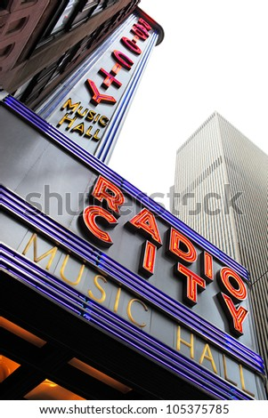 NEW YORK CITY, USA - JUNE 8: Radio City Music Hall is an entertainment venue located in Rockefeller Center in New York City. June 8, 2012 in New York City, USA