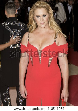 New York City, USA - May 2, 2016: Amy Schumer attends the Manus x Machina Fashion in an Age of Technology Costume Institute Gala at the Metropolitan Museum of Art