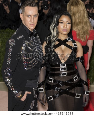 New York City, USA - May 2, 2016: Jeremy Scott and Nicki Minaj attend the Manus x Machina Fashion in an Age of Technology Costume Institute Gala at the Metropolitan Museum of Art - stock photo