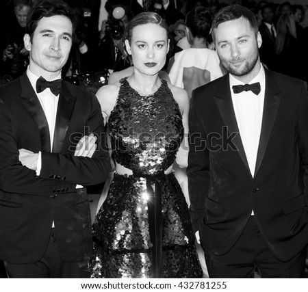 New York City, USA - May 2, 2016: Lazaro Hernandez, Brie Larson and Jack McCollough attend the Manus x Machina Fashion in an Age of Technology Costume Institute Gala at the Metropolitan Museum of Art