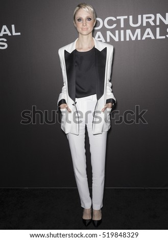 New York City, USA - November 17, 2016: Actress Andrea Riseborough attends the 'Nocturnal Animals' New York premiere held at The Paris Theatre