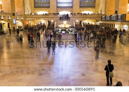 NEW YORK CITY, USA - NOVEMBER 16, 2012: Views of the historic Grand Central railroad Terminal in New York City on November 16, 2012. - stock photo