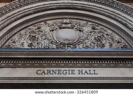NEW YORK CITY, USA - SEPTEMBER, 2014: Carnegie Hall in New York City - stock photo