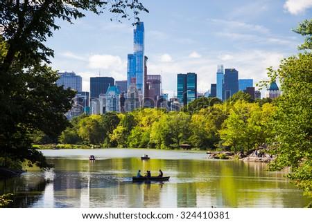 NEW YORK CITY, USA - SEPTEMBER, 2014: Central Park New York City - stock photo