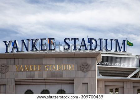 NEW YORK CITY, USA - SEPTEMBER, 2014: Yankee Stadium in New York City - stock photo