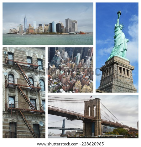 New York collage - stock photo