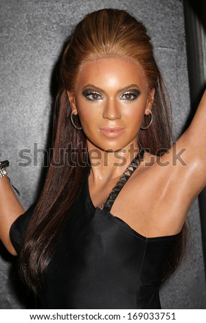 NEW YORK - Dec 6: A wax figure of Beyonce Knowles is seen on display at Madame Tussauds on December 6, 2013 in New York City.