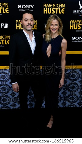 "NEW YORK-DEC 8: Actors Jack Huston and Shannan Click attend the ""American Hustle"" premiere at the Ziegfeld Theatre on December 8, 2013 in New York City."