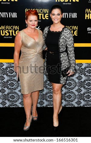 "NEW YORK-DEC 8: Actress Melissa McMeekin (L) and Erica McDermott attend the ""American Hustle"" premiere at the Ziegfeld Theatre on December 8, 2013 in New York City."