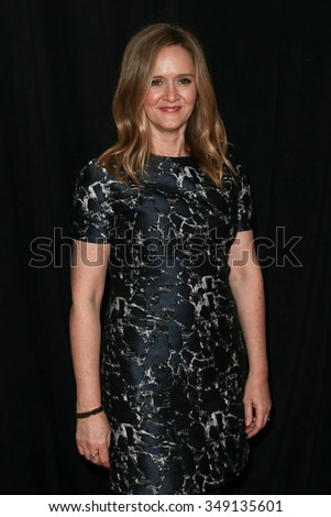 "NEW YORK-DEC 8: Actress Samantha Bee attends the premiere of ""Sisters"" at the Ziegfeld Theatre on December 8, 2015 in New York City. - stock photo"