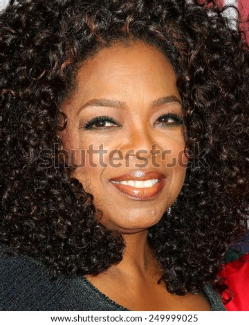 "NEW YORK - DEC 14, 2014: Oprah Winfrey attends the premiere of ""Selma"" at the Ziegfeld Theatre on December 14, 2014 in New York City. - stock photo"