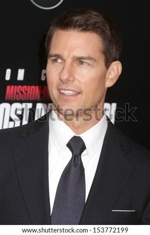 """NEW YORK - DEC 19:  Tom Cruise attends the premiere of """"Mission: Impossible - Ghost Protocol"""" at the Ziegfeld Theatre on December 19, 2011 in New York City. - stock photo"""