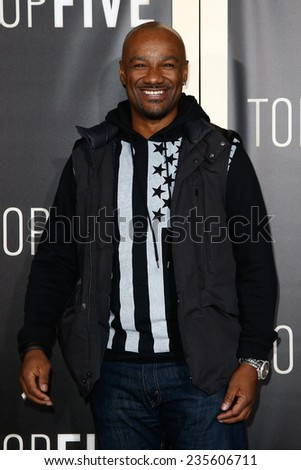 "NEW YORK-DEC 3: TV and radio personality Darian ""Big Tigger"" Morgan attends the ""Top Five"" premiere at the Ziegfeld Theatre on December 3, 2014 in New York City. - stock photo"