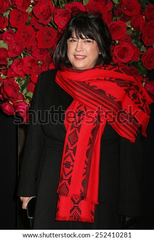 "NEW YORK - FEB 5, 2015: Author E.L. James attends a screening of ""Fifty Shades of Grey"" at the Ziegfeld Theatre on February 5, 2015 in New York.  - stock photo"