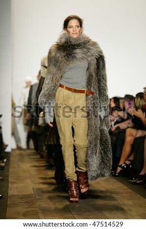 NEW YORK - FEBRUARY 17: A model walks the runway at the Michael Kors Collection for Fall/Winter 2010 during Fashion Week on February 17, 2010 in New York