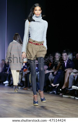 NEW YORK - FEBRUARY 18: A model walks the runway at the Tommy Hilfiger Collection for Fall/Winter 2010 during Fashion Week on February 18, 2010 in New York