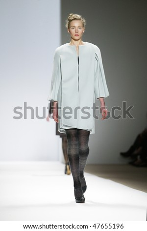 NEW YORK - FEBRUARY 18: A model walks the runway at the Trias Collection for Fall/Winter 2010 during Fashion Week on February 18, 2010 in New York