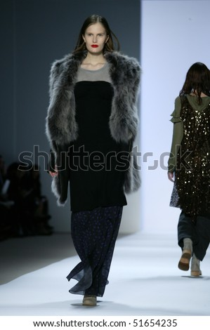 NEW YORK - FEBRUARY 11: Alla Kostromichova is walking the runway at the Richard Chai Collection for Fall/Winter 2010 during Mercedes-Benz Fashion Week on February 11, 2010 in New York.