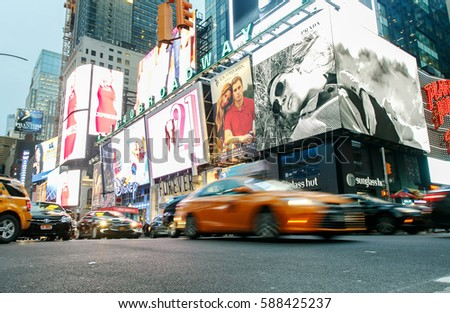 stock-photo-new-york-february-cars-are-m