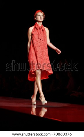 NEW YORK - FEBRUARY 09: Eva Amurri in Chris Benz dress walks runway for The Heart Truth's Red Dress Collection at Mercedes-Benz Fall/Winter 2011 Fashion Week on February 09, 2011 in New York City.