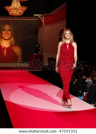 NEW YORK - FEBRUARY 11: Heidi Klum walks the runway for John Galliano at the Heart Truth's Red Dress Collection for Fall 2010 during Mercedes-Benz Fashion Week on February 11, 2010 in New York