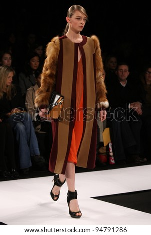 NEW YORK - FEBRUARY 9: Model walks the runway at the BCBG Max Azria FW 2012 Collection presentation during Mercedes-Benz Fashion Week on February 9, 2012 in New York.