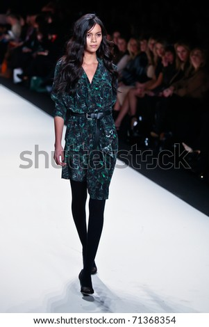 NEW YORK - FEBRUARY 11:   Model walks the runway for the  Rebecca Minkoff collections Mercedes-Benz Fashion Week at Lincoln Centre on February 11, 2011 in New York.