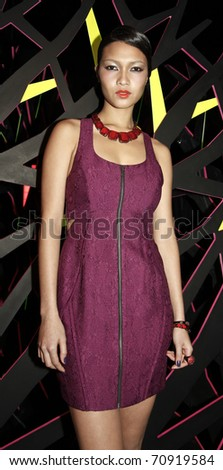 NEW YORK - FEBRUARY 10: Model with dress by Twinkle by Wenlan at W Hotels Glam Presentation in the Mercedes-Benz Fall/Winter 2011 Fashion Week on February 10, 2011 in New York City.