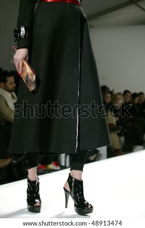 NEW YORK - FEBRUARY 14: Models walk the runway at the Vasilios Kostetsos Collection for Fall/Winter 2010 during Mercedes Benz Fashion Week on February 14, 2010 in New York