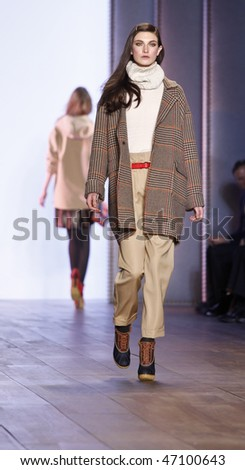 NEW YORK - FEBRUARY 18: Models walk the runway for Tommy Hilfiger Collection at Fall 2010 during Mercedes-Benz Fashion Week on February 18, 2010 in New York