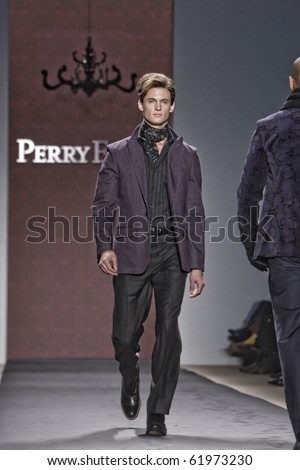 NEW YORK - FEBRUARY 15: Perry Ellis New York fashion week fall winter 2010 fashion show february 15, 2010 in New York, New York - stock photo