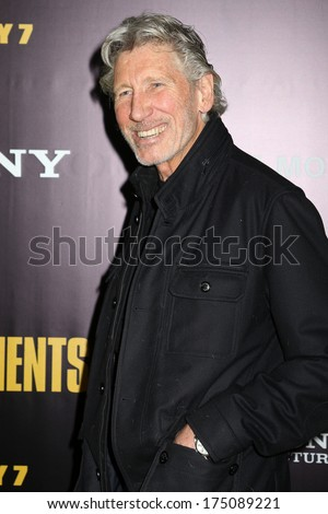 "NEW YORK - February 4, 2014: Roger Waters attends the premiere of ""The Monuments Men"" at the Ziegfeld Theater on February 4, 2014 in New York City. - stock photo"