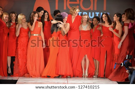 NEW YORK- FEBRUARY 6: Wendy Williams, Cindy Parsons, Jillian Michaels, Kendall Jenner, Kylie Jenner, Kris Jenner, Toni Braxton, Kelly Osbourne, Brenda Strong and others  at The Heart Truth's Red Dress