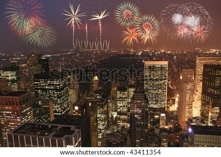 New york fireworks in MAnhattan