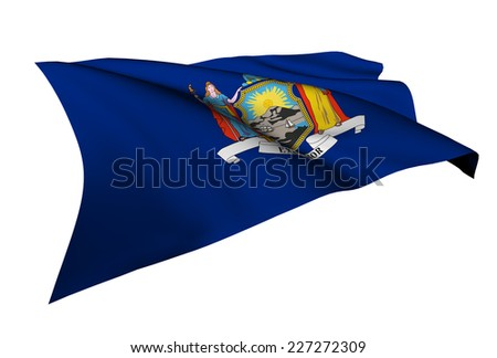 New York flag - USA state flags collection no_4  - stock photo