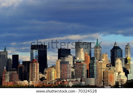 New York from river side - stock photo