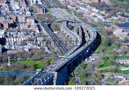 New York highways - stock photo