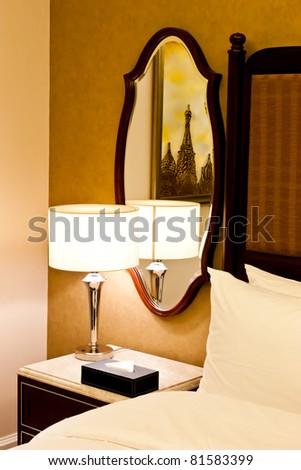 New York, interior of a luxury Hotel - stock photo